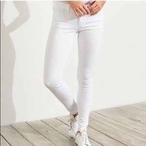 Hollister Co. Super Skinny White Jeans